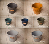 { NEW } Farmhouse Pail | Distressed Metal Bucket | Newborn Photo Prop