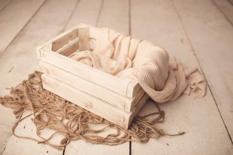 Crate | Slatted Cream Crate