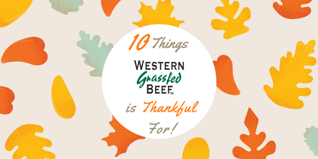 10 Things Western Grassfed Beef Staff Are Thankful For