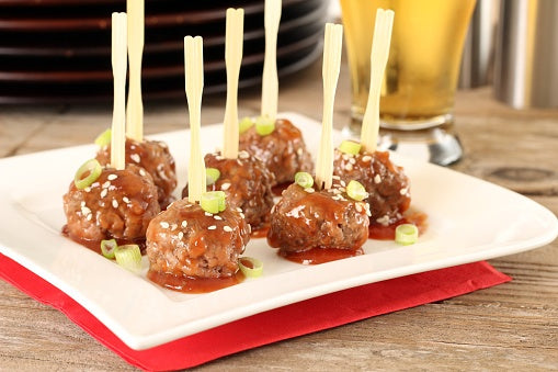 Bourbon Grass Fed Beef Meatball Appetizers [Recipe]