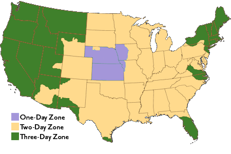 Shipping Information Western Grassfed Beef - Us shipping zones map