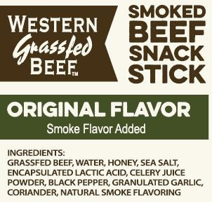 Beef Snack Sticks Ingredients List Label-Original
