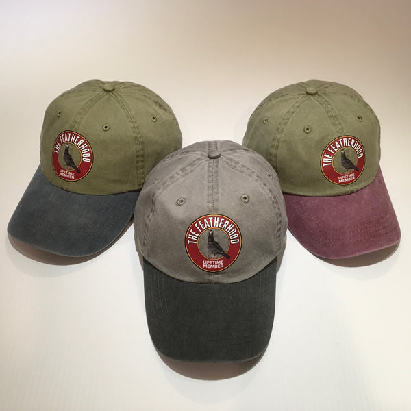 FEATHERHOOD 2-TONE Pigment Dyed Unstructured NEW HAT in 3 colors