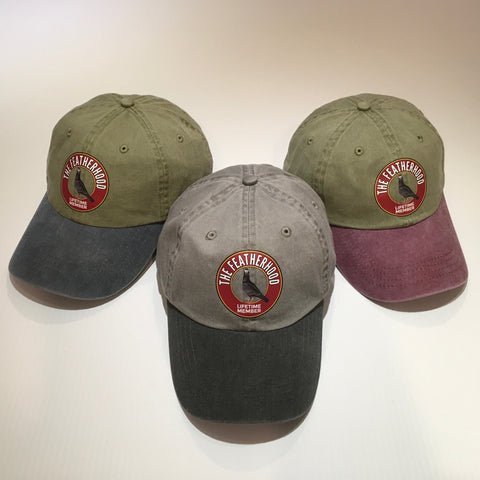 FEATHERHOOD 2-TONE Pigment Dyed Unstructured HAT in 3 colorways - racing pigeon care keeping films