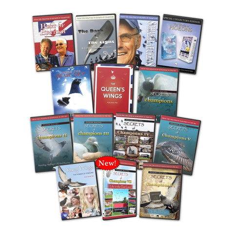 JIM JENNER PIGEON COLLECTION - ALL 15 DVD's