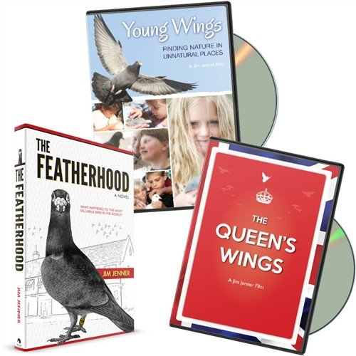 THE FEATHERHOOD Book & DVD Combo:  Young Wings & The Queen's Wings - homing pigeon care keeping racing films