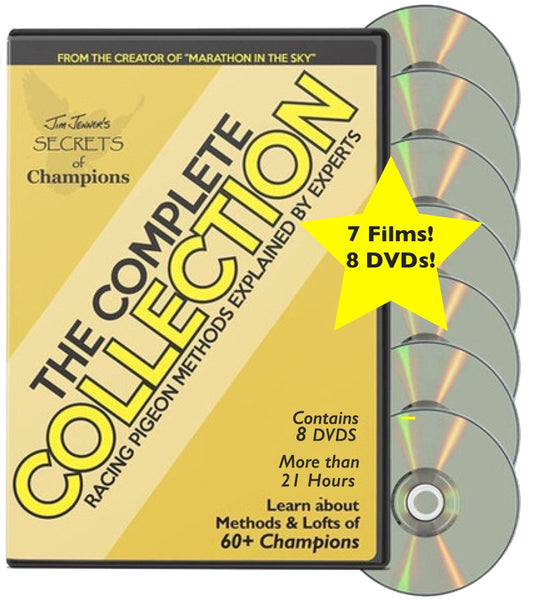 The COMPLETE SECRETS OF CHAMPIONS COLLECTION Pigeon DVD- NOW All 7 Films! SPECIAL PRICE $124.95 (Reg. $209.65) - racing pigeon care keeping films