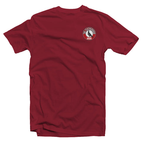 FEATHERHOOD ADULT T-SHIRT - Cardinal Red - racing pigeon care keeping films