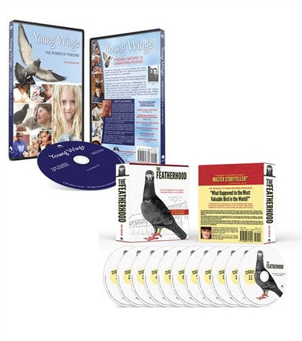 THE FEATHERHOOD Audio Book & Young Wings DVD Combo - racing pigeon care keeping films
