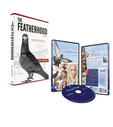 THE FEATHERHOOD Book & Young Wings DVD Combo - racing pigeon care keeping films