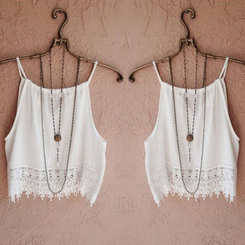 Fashion Sexy Women Lady Summer Lace Sleeveless Camisole Casual Crop Top - Kylil Accessories