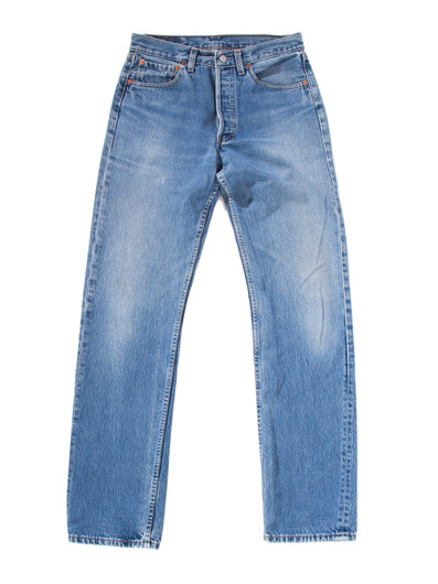 INDIGO WASHED DENIM PANTS