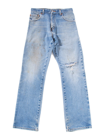 MEDIUM RIPPED DIRTY DENIM PANTS