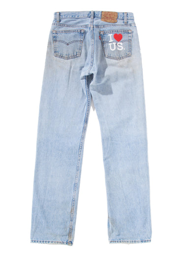 LIGHT DIRTY DENIM PANTS
