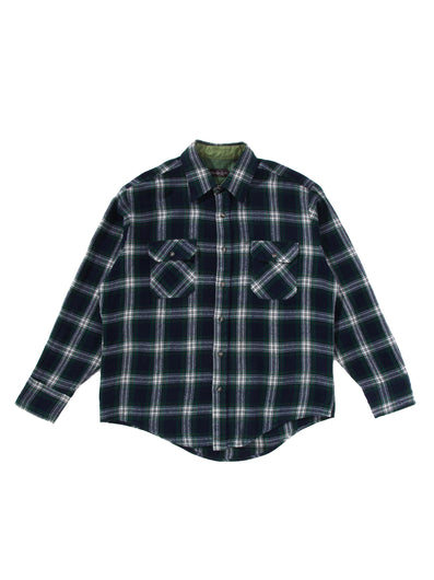 SQUARE DARK GREEN TWO POCKET BUTTON DOWN SHIRT