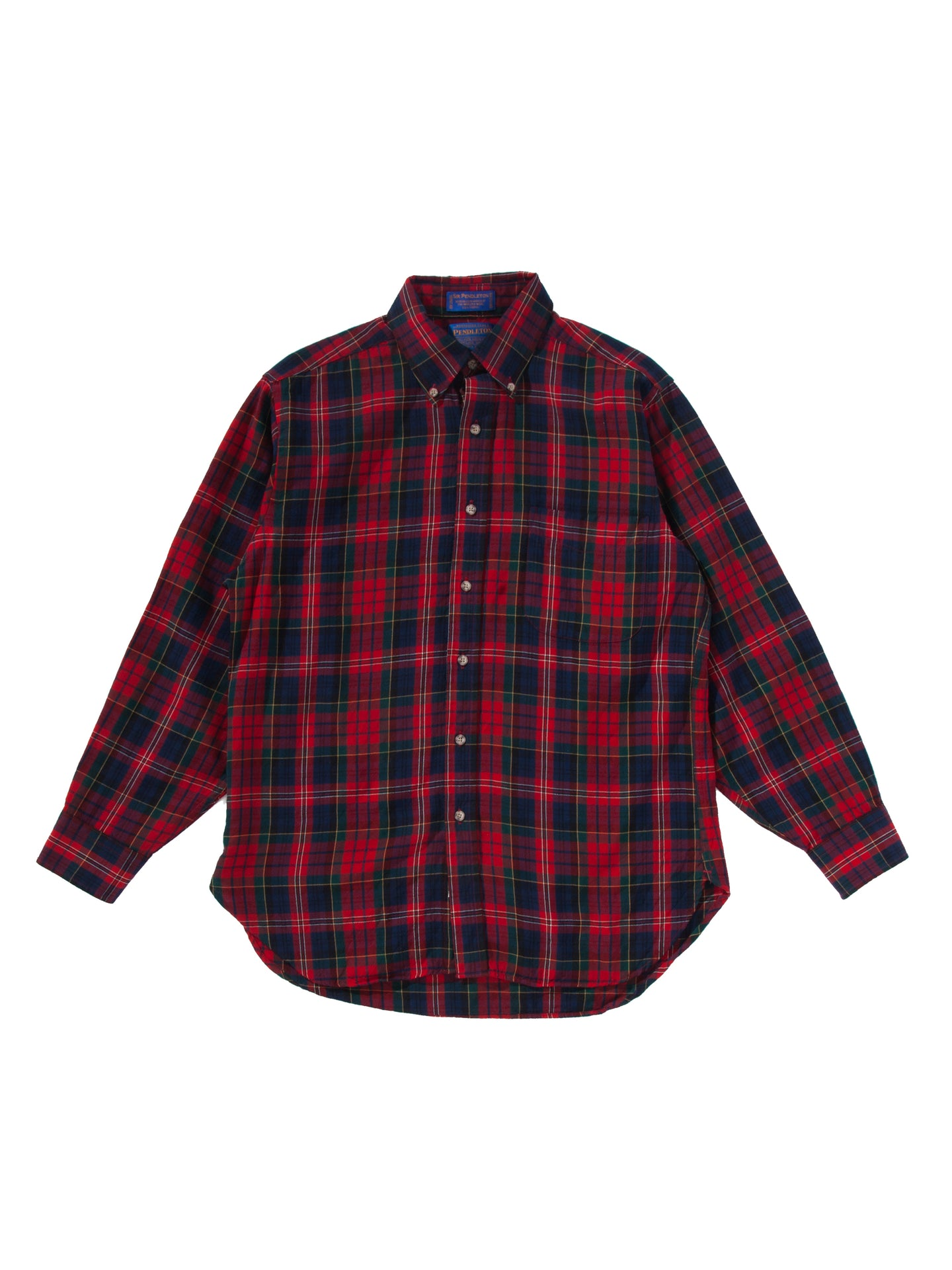 SQUARE DARK RED BUTTON DOWN SHIRT
