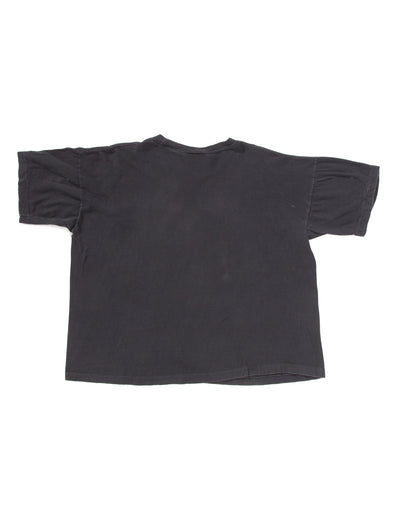 FADED BLACK CROPPED T-SHIRT