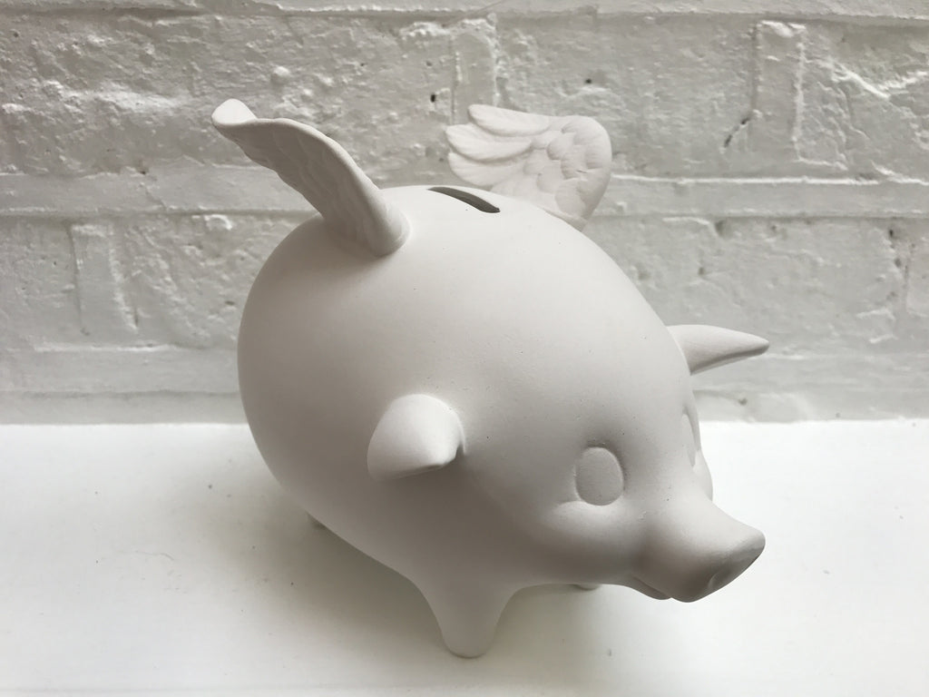 Flying pig money box