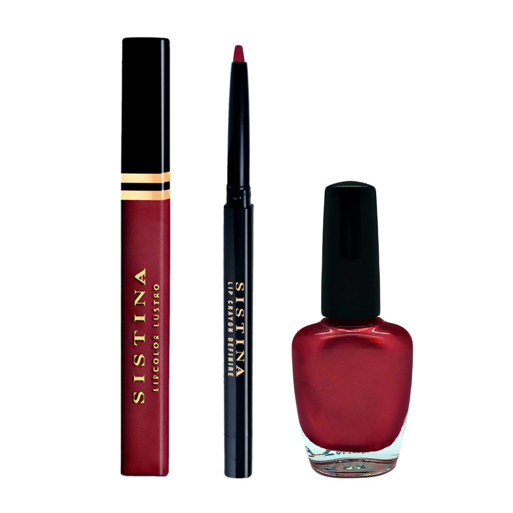 3-pc Sistina Lip & Nail Set