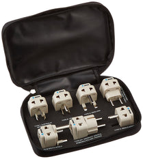 OREI 7 Travel Adapter Plug Set Safe Grounded For Europe, Germany, Italy, S. Africa, China, Australia, UK, India and More