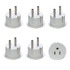 OREI American USA To European Schuko Germany Plug Adapter (6 Packs)