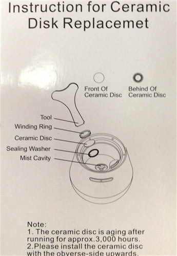 Zaq Ceramic Disc Replacement Kit For Allay Dew Noor Mirage