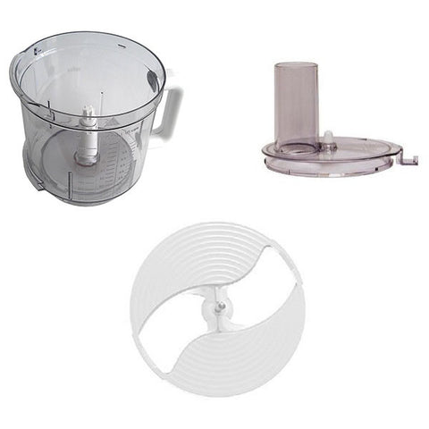 Braun replacement parts for K650 food processor (Blade, Bowl, Cover)
