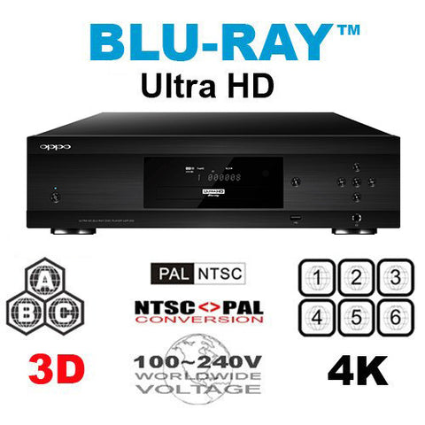Oppo UDP-205 Ultra HD Multi Region Free DVD Blu-ray disc Player - 4K