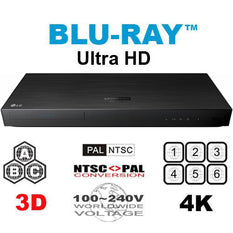 LG UP870 Ultra HD Multi Region Free DVD Blu-Ray Disc Player - 4K