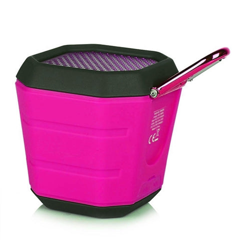 Orei Splash Proof Portable Bluetooth Speaker - Pink