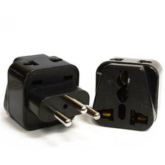 Type J - OREI Grounded 2 in 1 Plug Adapter (2 Pack) - Swiss, Switzerland