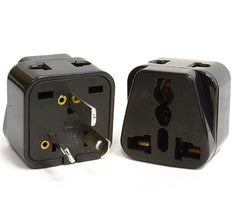 Type I - OREI Grounded 2 in 1 Plug Adapter (2 Pack)- China, Australia, New Zealand