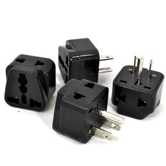 Type B - OREI Grounded 2 in 1 Plug Adapter (4 Pack) - USA, Japan, Canada