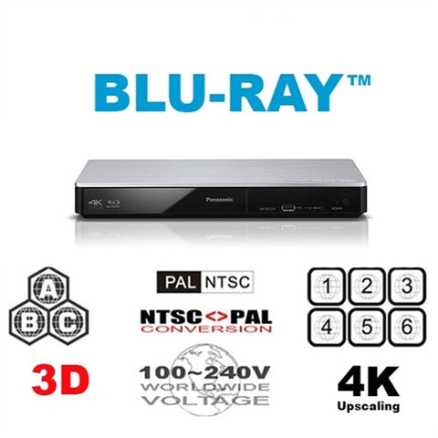 Panasonic DMP-BDT270 Region Free DVD Blu Ray Player - 3D support - 4K Upscaling