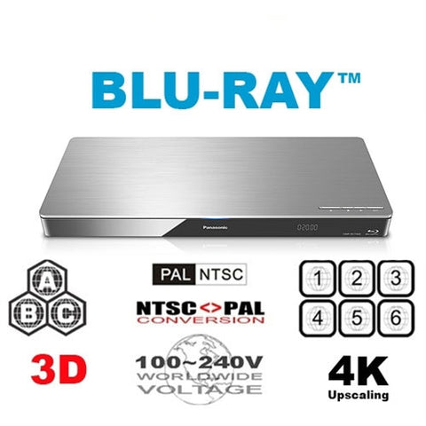 Panasonic DMP-BDT460 Region Free DVD Blu Ray Player - 3D Support - 4K Upscaling
