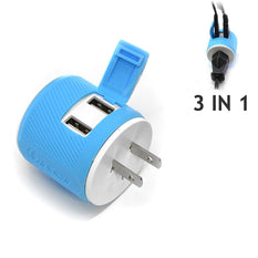 OREI Japan, Philippines Travel Plug Adapter - Dual USB - Surge Protection - Type A