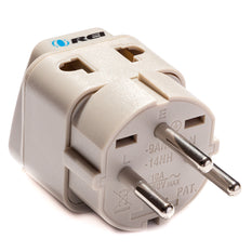 Type H - OREI Grounded 2 in 1 Plug Adapter - Israel, Palestine