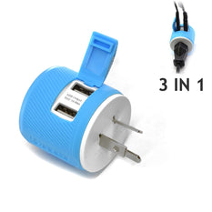 OREI Australia, New Zealand, China Travel Plug Adapter - Dual USB - Surge Protection - Type I