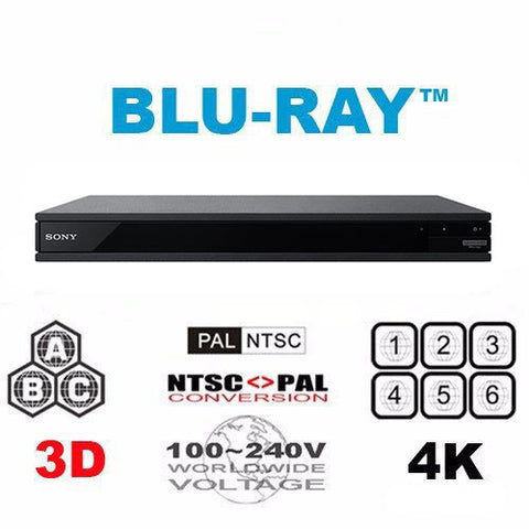 Sony UBP-X800 Multi Region Free 4K Ultra-HD Blu-ray Disc Player -  Wifi & 3D support
