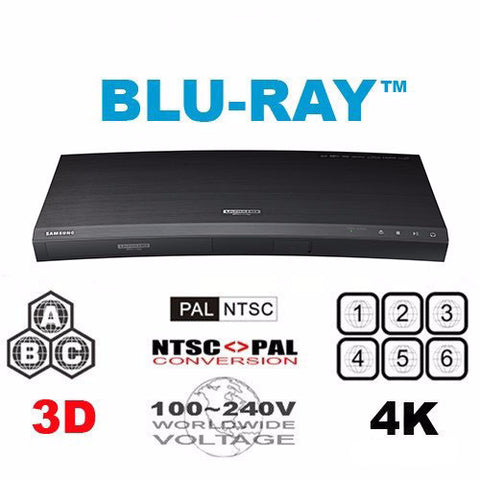 Samsung UBD-K8500 4K Region Free Ultra HD Blu-Ray DVD Player - 3D WIFI