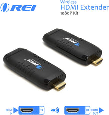 Wireless HDMI Extender Transmitter & Receiver Dongle 1080P Kit HDMI by OREI - Up to 50 Ft - Perfect for Streaming from Laptop, PC, Presentation, Switching, Power Point