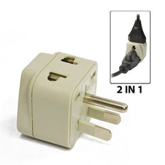 Type B - OREI Grounded 2 in 1 Plug Adapter - USA, Japan, Canada