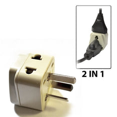 Type I - OREI Grounded 2 in 1 Plug Adapter - China, Australia, New Zealand