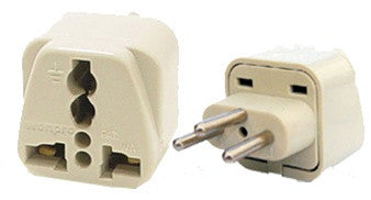 Grounded Universal Plug Adapter Type J for Swiss, Switzerland