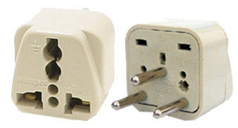 Grounded Universal Plug Adapter Type H for Israel, Palestine (Round)
