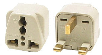 Grounded Universal Plug Adapter Type G for UK, Iraq