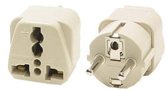 Grounded Universal Plug Adapter Type E/F for Europe (Shucko)