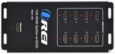 1x8 HDMI Splitter 4K @30Hz Powered - Supports 3D Full HD 1080P (HDS-108)