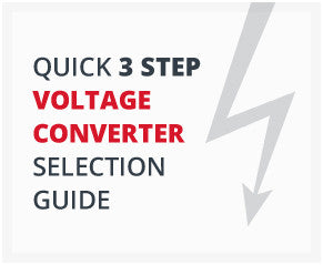 quick 3 step voltage converter selection guide