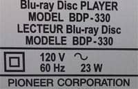 Sample 120V rating